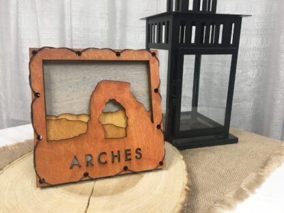 Arches National Park, Delicate Arch Home Decor with four layers of wood