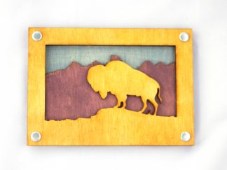 bison, buffalo, great plains, rockies, American West, Montana, Wyoming, Nebraska, Oklahoma, Kansas, South Dakota, North Dakota, Idaho, gift shop, rocky mountains, appalachian trail, rockies, camper, jewelry, national parks, national park, purple, yellow, blue, memento