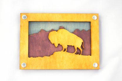 bison, buffalo, great plains, rockies, American West, Montana, Wyoming, Nebraska, Oklahoma, Kansas, South Dakota, North Dakota, Idaho, gift shop, rocky mountains, appalachian trail, rockies, camper, jewelry, national parks, national park, purple, yellow, blue, memento