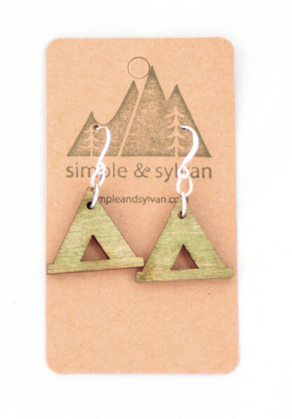 earrings, camp, tent, campsite, appalachia, rocky mountains, appalachian trail, rockies, camper, jewelry, national parks, national park, gift shop, memento